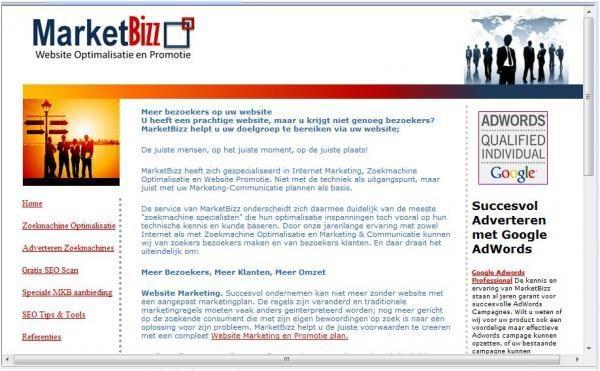 Afbeelding van MarketBizz Website promotie SEO SEA