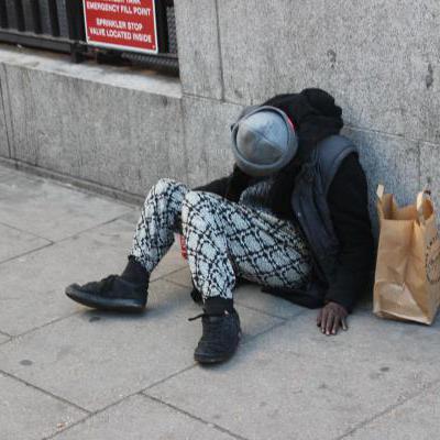 Daklozen op straat