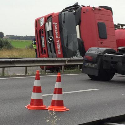 Ongeluk vrachtwagen