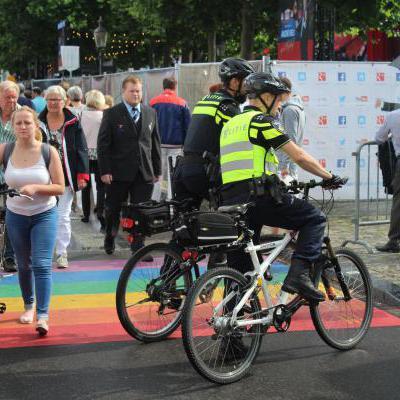 Politie op fiets