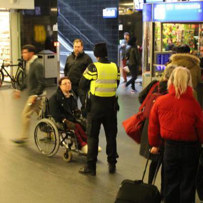 Politie op station