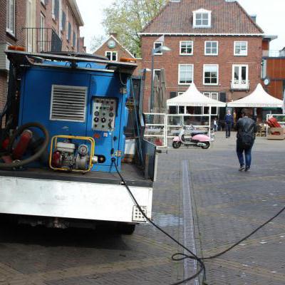 Binnenstad schoon spuiten
