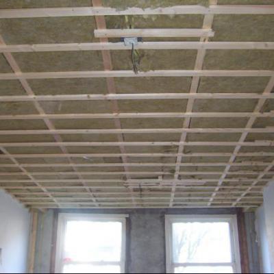 Plafond in aanbouw