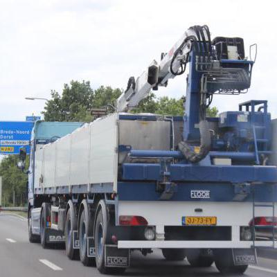 Vrachtwagen stenen