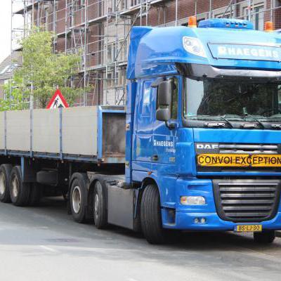 Convoi exceptionnel vrachtwagen