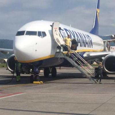 Vliegtuig met trap