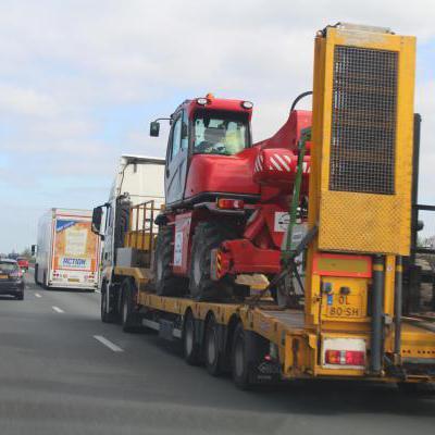 Vrachtwagen en lading
