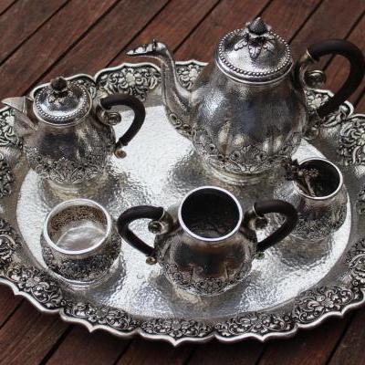 Zilveren theeservies
