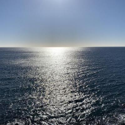 Ondergang zon op zee