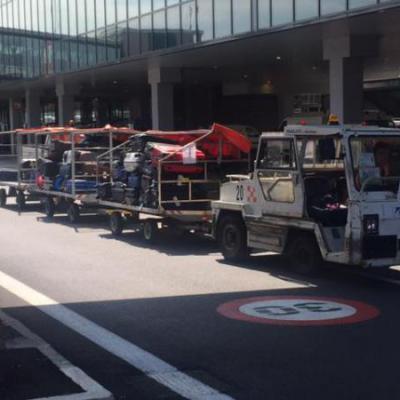 Bagagewagen luchthaven