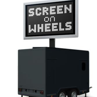 screen on wheels