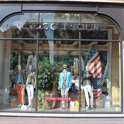 Etalage kledingwinkel