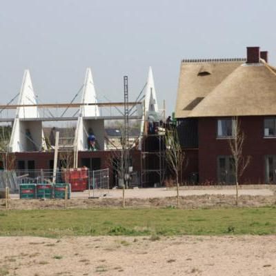 Woningen in aanbouw