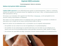 Website van Expliciet GWWcontracten
