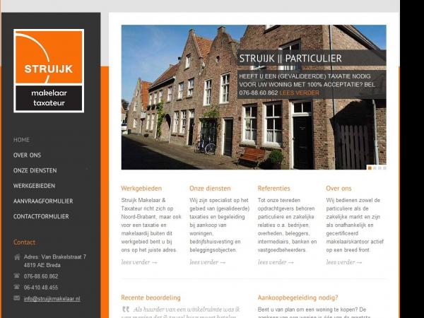 Website van Struijk Makelaar & Taxateur