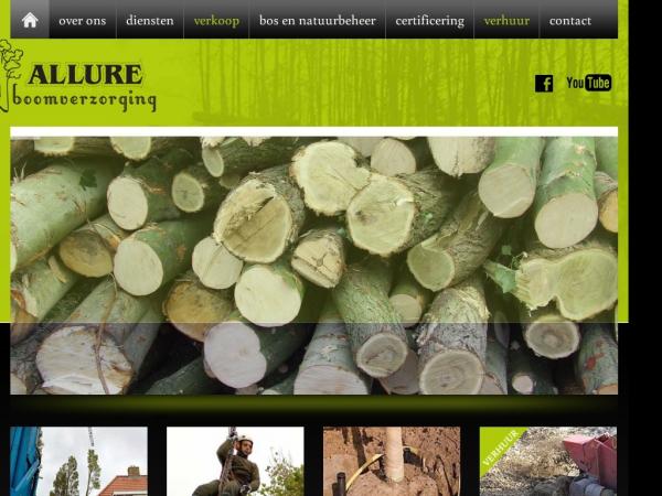 Website van Allure Boomverzorging