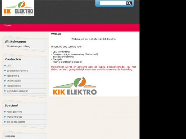 Website van Kik Elektro