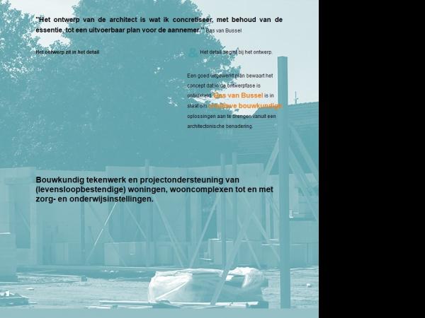 Website van basvanbussel bouwkundig teken- & adviesbureau