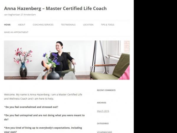 Website van Anna Hazenberg Life Coach