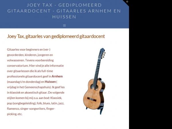 Website van Joey Tax