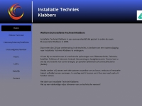 Website van Installatie Techniek Klabbers