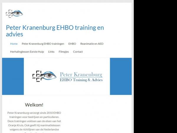 Website van Peter Kranenburg EHBO training en advies