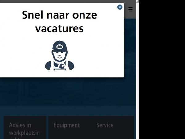 Website van Werkplaatsinrichting - Maha Nederland