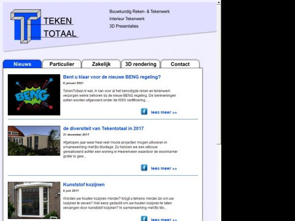 Website van TekenTotaal.nl