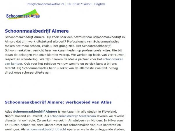 Website van Schoonmaak Atlas