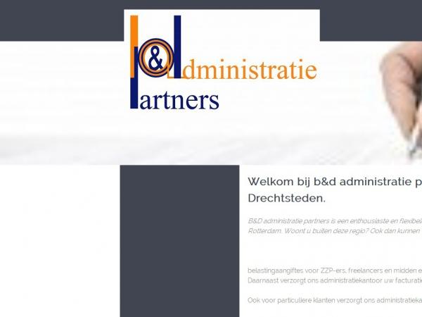 Website van b&d administratie partners