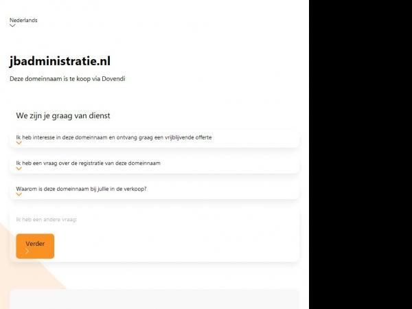 Website van Jos Bruin Administratiekantoor